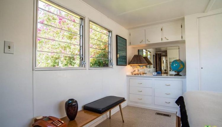 1962 Skyline single wide is a Vintage Mobile Home Beauty - master Bedroom with Builtins