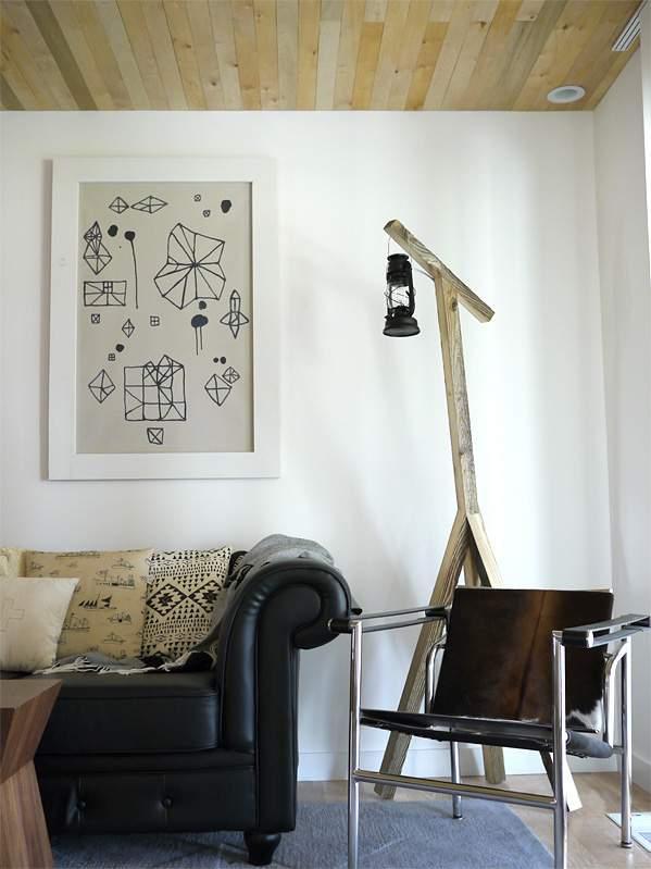 Rustic Lantern Floor Lamp - DIY lights you can make4