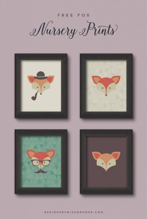 SImple Hipster Printables - cheap wall art ideas