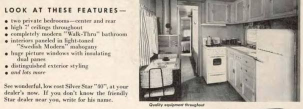 Silver star 40 mobile home ad in 1954 magazine