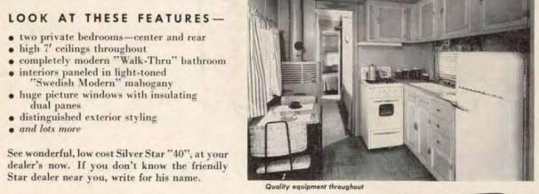 Silver Star 40 mobile home ad in 1954 magazine
