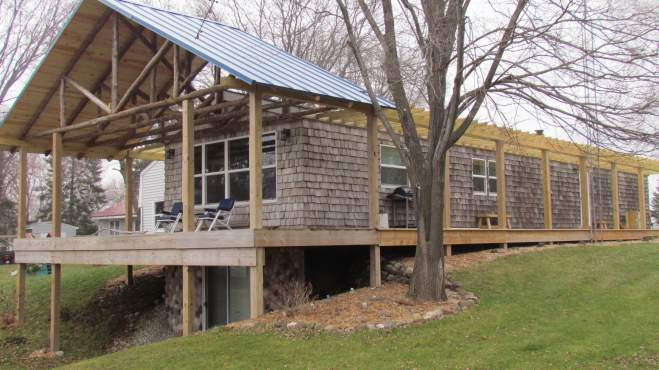 Cedar Siding on Manufactured Homes: $500 Reclaimed Siding Remodel 1