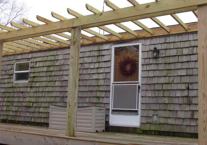 single wide exterior remodel - decking, roofing,