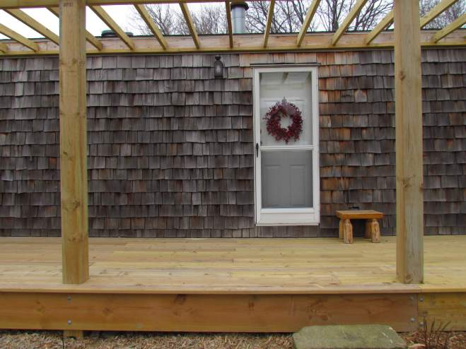 Single Wide Manufactured Home Exterior Remodel - Cedar Shake and Pergola (11)