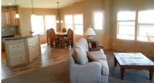 Skyline Manufactured Home Floor Plan - Skyranch - The Kerr - Living Room and Kitchen