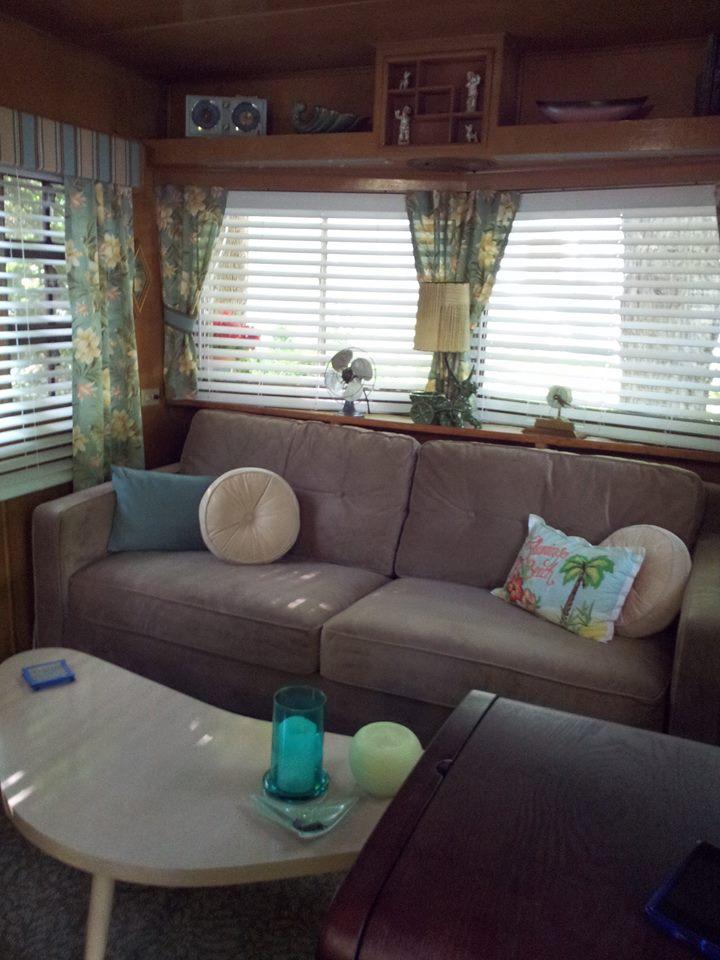 vintage mobile home restoration-Smoker Aritocrat Mobile Home - Living Room 2