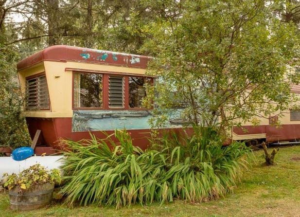 SouWestern Lodge vintage travel trailer