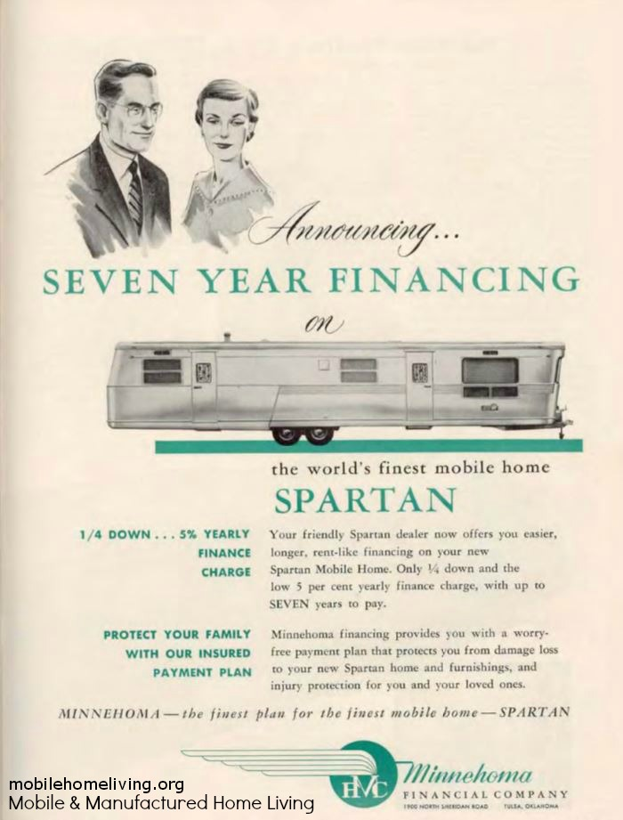 vintage mobile homes-Spartan in 1955 mag