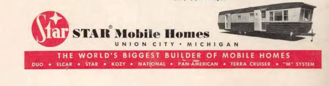 Star Mobile Home advertisement from 1954 - vintage mobile home series