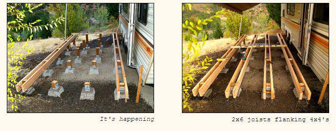 RV deck design - How to design and building a floating deck 2