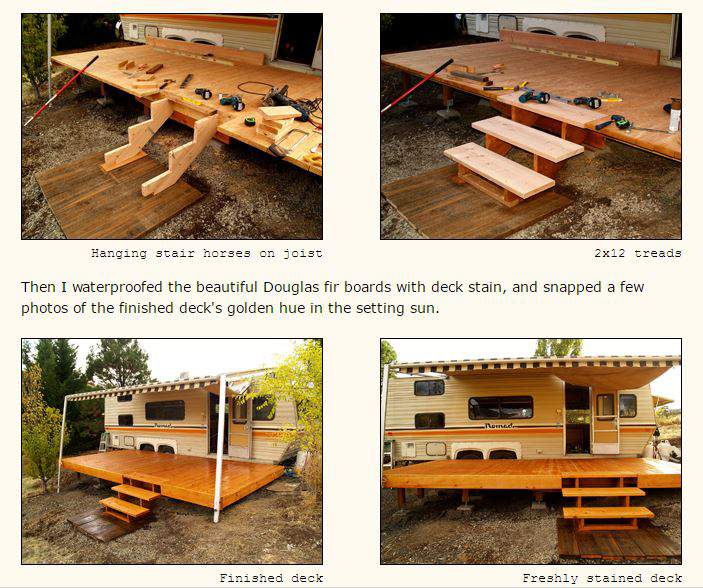 Awesome rv deck design ideas how to build a deck for How to build a wooden house step by step