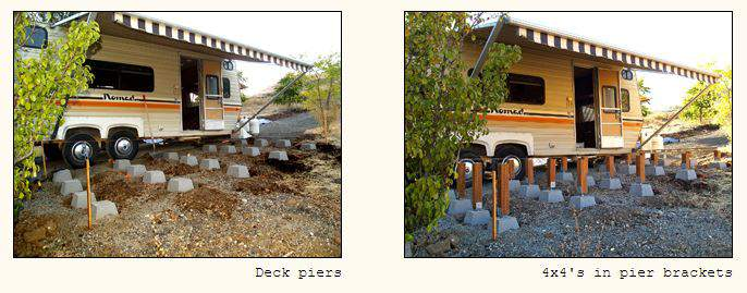 RV deck design - How to design and building a floating deck