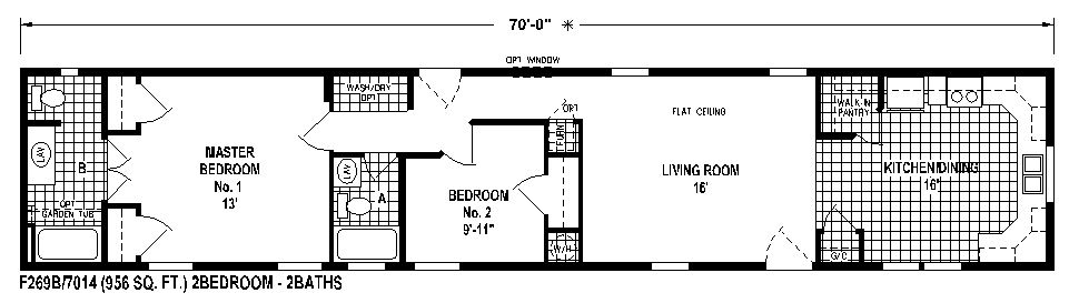manufactured home floor plans sunwood skyline homes floor plan - Single Mobile Home Floor Plans