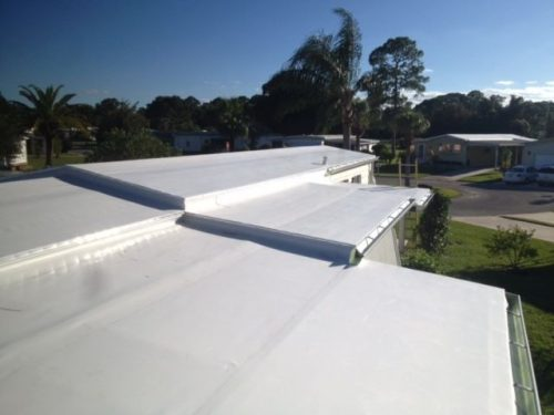 TPO for mobile home roof over