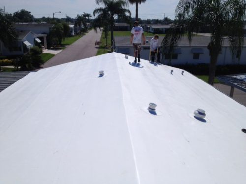 TPO for mobile home roof over after