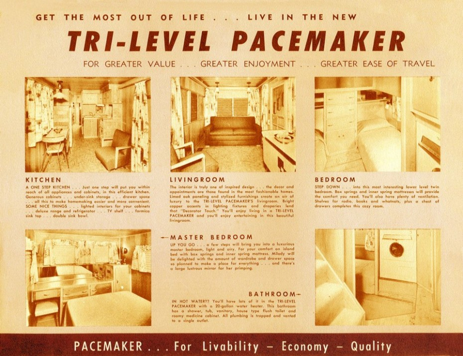 Tri-level Vintage Trailer Brochure