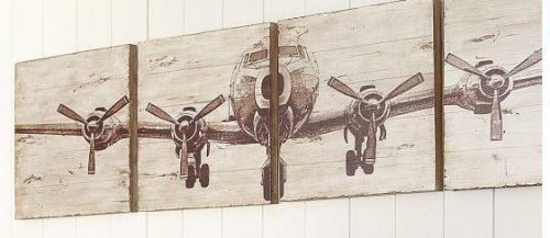 Use scrap boards or wood to decoupage diy wall art prints onto