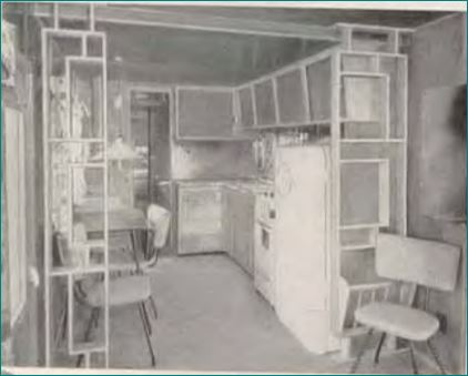 VIP by General Mobile Home Kitchen, 1959