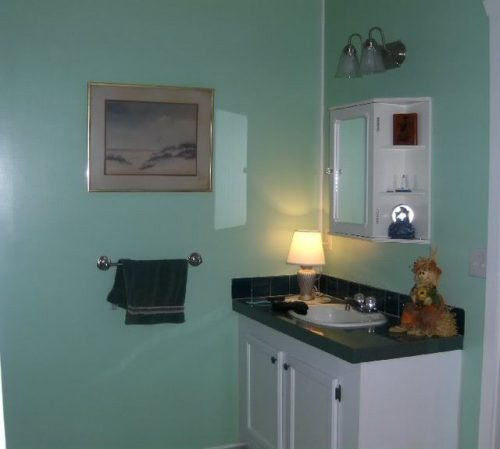 vinyl walls in mobile homes-VOG mobile home walls after priming and painting