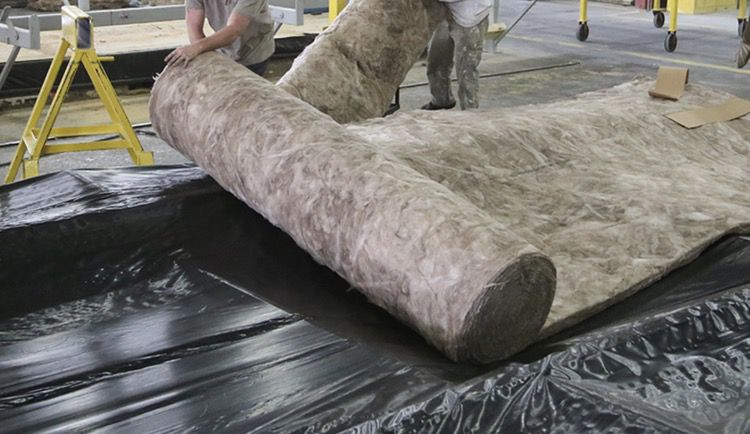 Vapor barrier and insulation in new manufactured home floor
