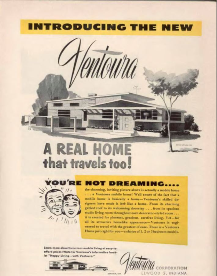 vintage mobile homes-Ventoura 1955
