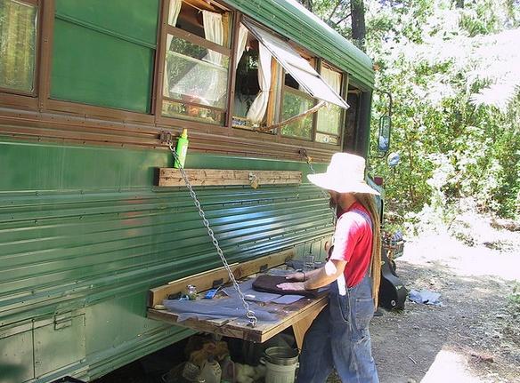 vintage buses-Vintage Bus Conversion - Enchanted Gypsy Exterior
