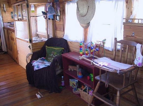 vintage buses-Vintage Bus Conversion - Enchanted Gypsy - Sitting Area 2