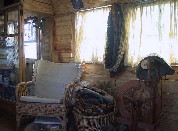 vintage buses-Vintage Bus Conversion - Enchanted Gypsy - Sitting Area