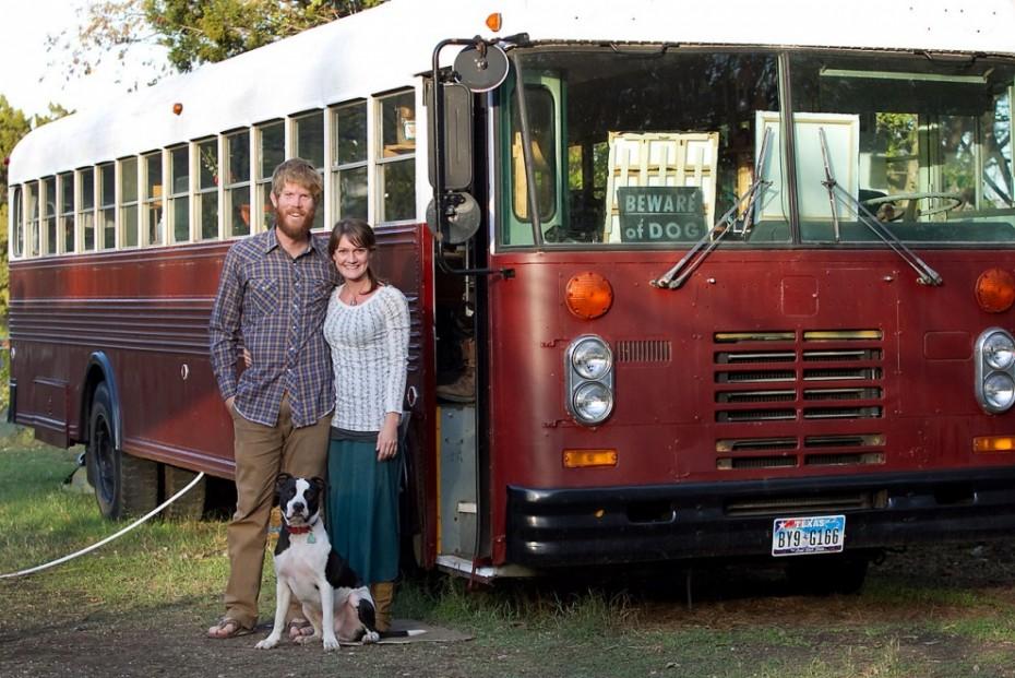 vintage buses-Vintage Bus Conversion Exterior
