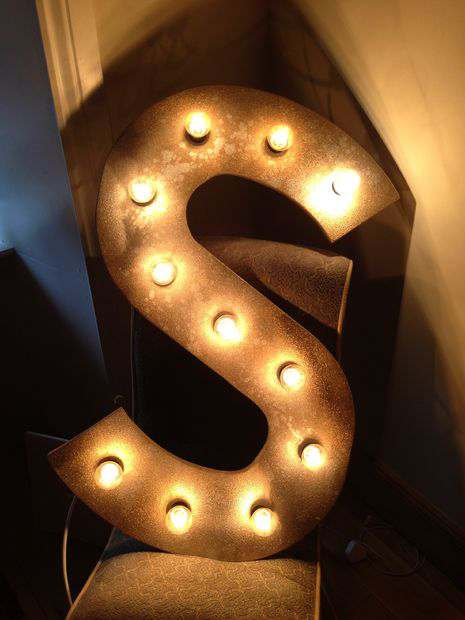 Vintage Letter DIY light