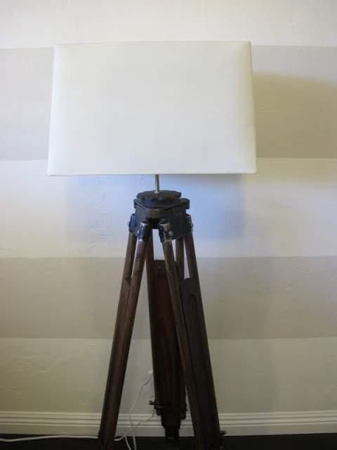 Vintage tripod lamp diy