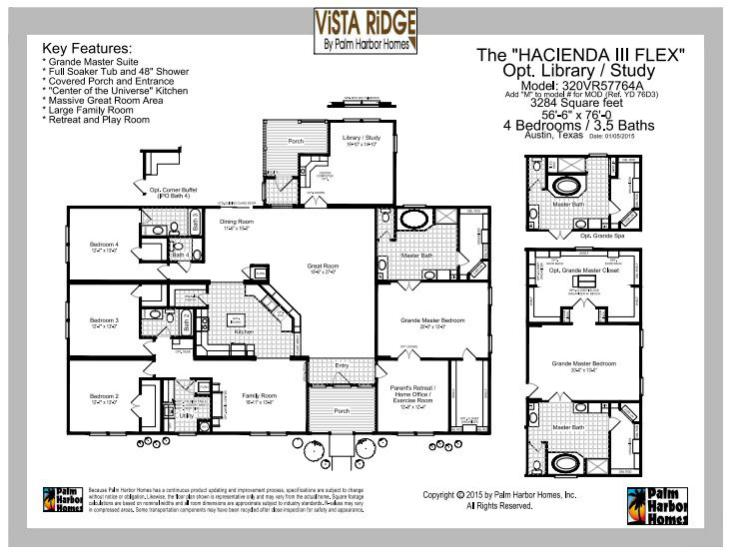 Vista Ridge manufactured home floor plan by palm harbor pg 3