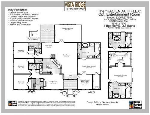 Buying a new manufactured home - vista ridge manufactured home floor plan by palm harbor pg 7