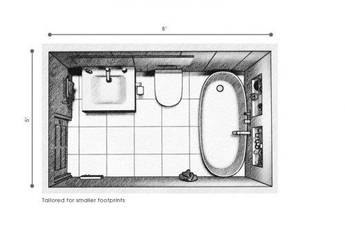 Small mobile home bathroom remodels - small bathroom floor plan