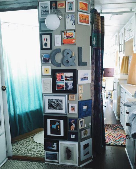 Wall decor in RV - RV remodel