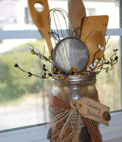 Wooden Spoon display - country craft