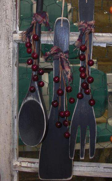 Wooden spoon garland - country garland