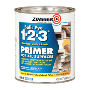 Zinnser 123 primer - prepping tileboard for painting - cheap backsplash ideas
