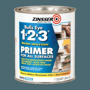 Zinnser 123 primer - prepping tileboard for painting - cheap backsplash ideas