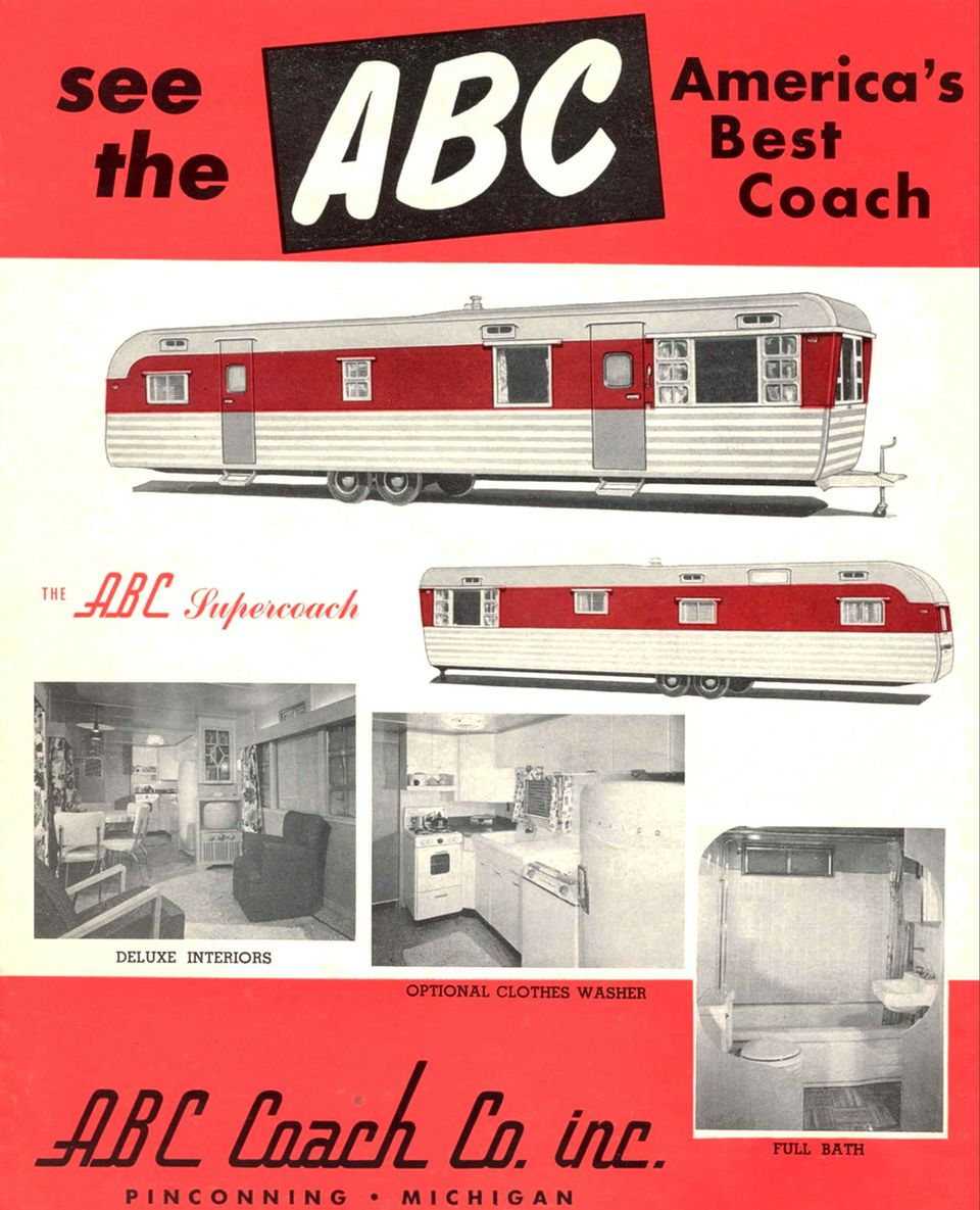 ABC Coach Co - Vintage Mobile Home Ad