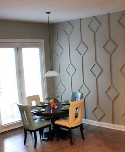 Accent Walls Using Wood To Create Patterns