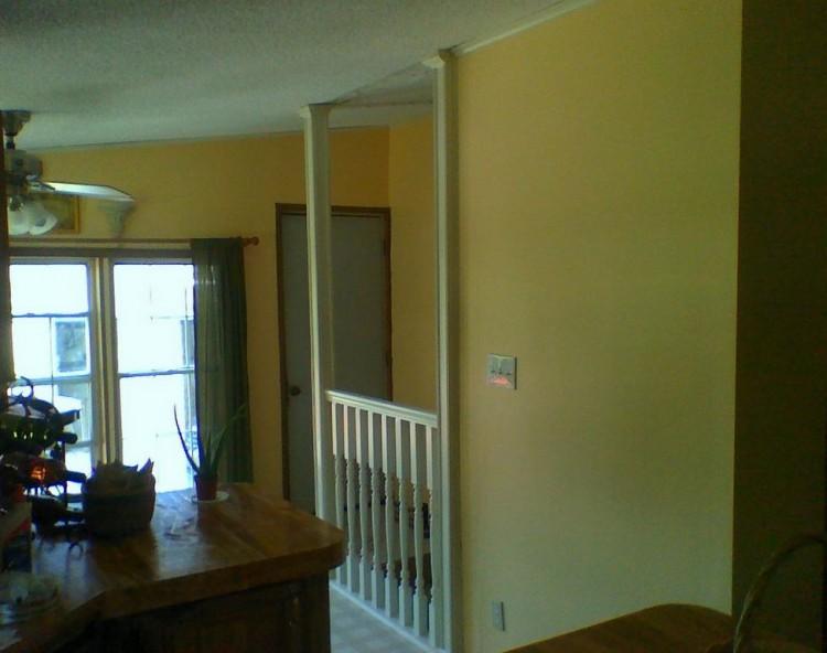 Added railing to basement entrance