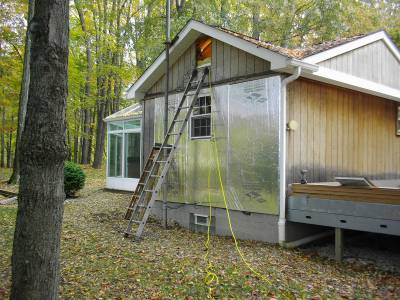 adding foam board to mobile home siding