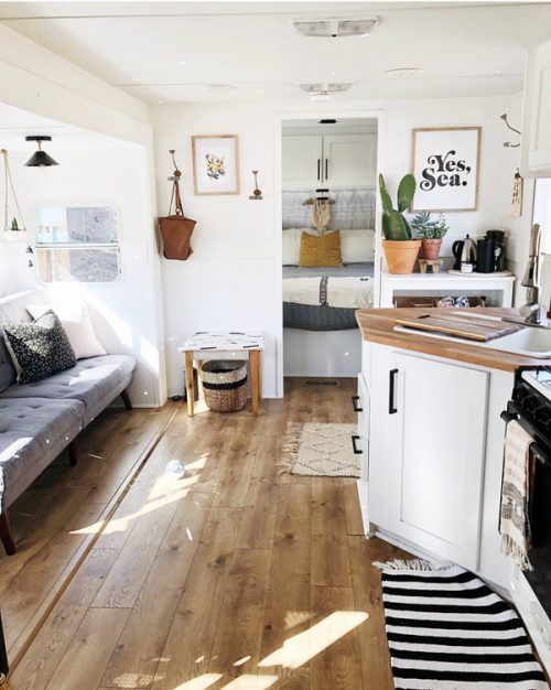 affordable RV renovation-interior after
