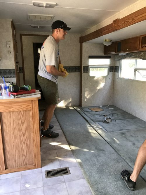 affordable RV renovation-interior before