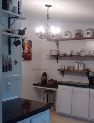 affordable ideas to update mobile home kitchen - adding shelves