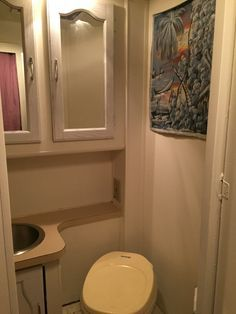 motorhome RV makeover - bathroom after