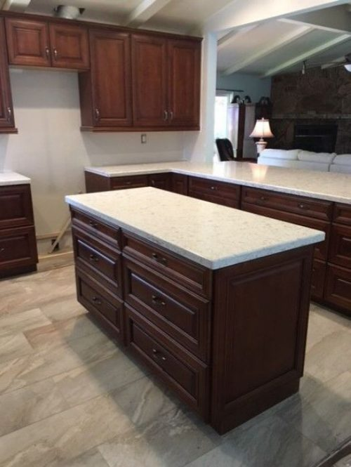 1960 Double Wide - kitchen after - new island