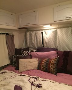 motorhome RV makeover - sleeping area after