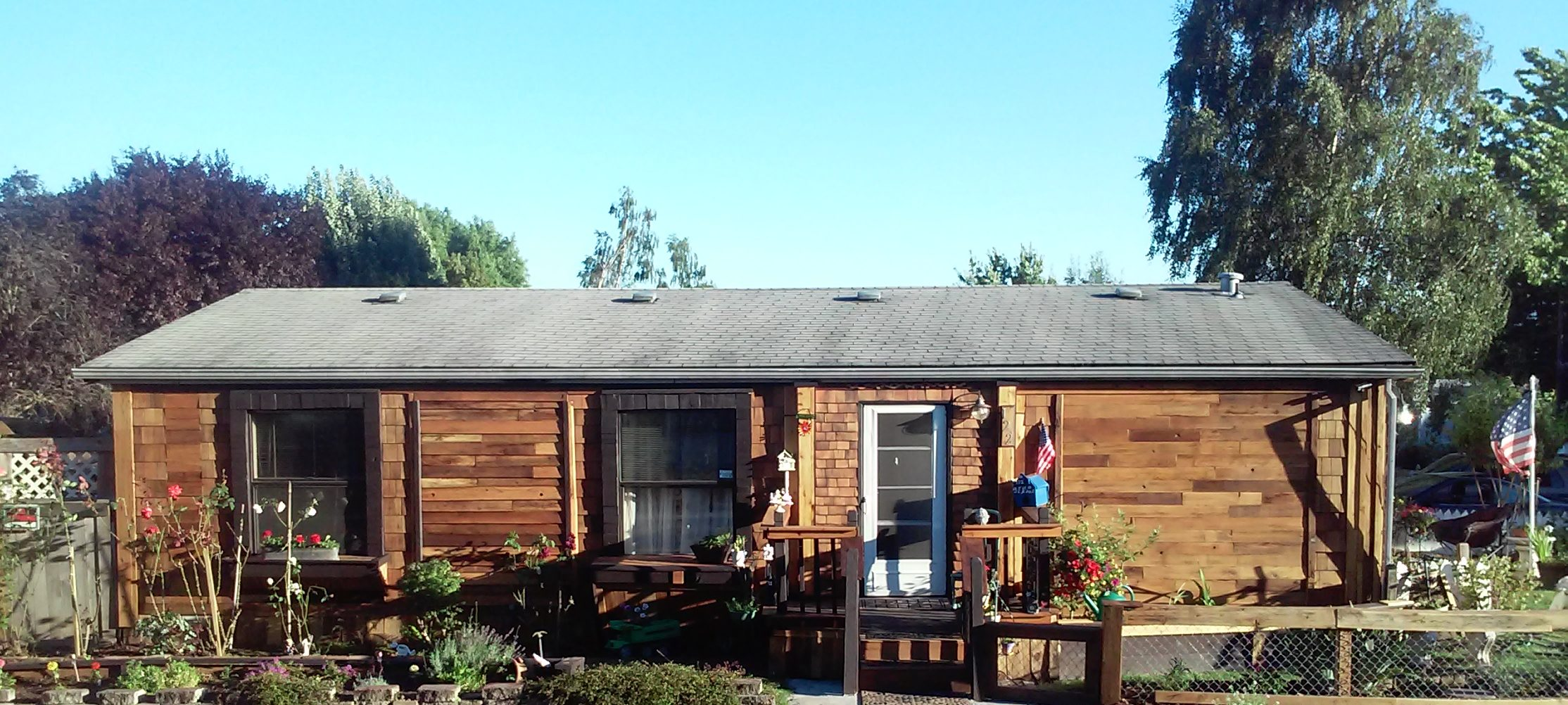 Cedar Siding on Manufactured Homes: $500 Reclaimed Siding Remodel